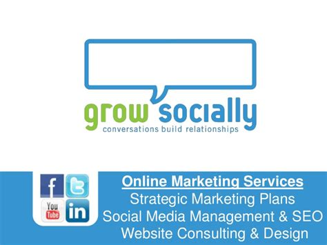 grow marketing grow socially overview of our online marketing services