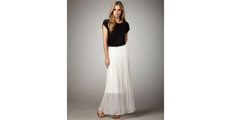 pleated maxi skirt combo dress in black lyst