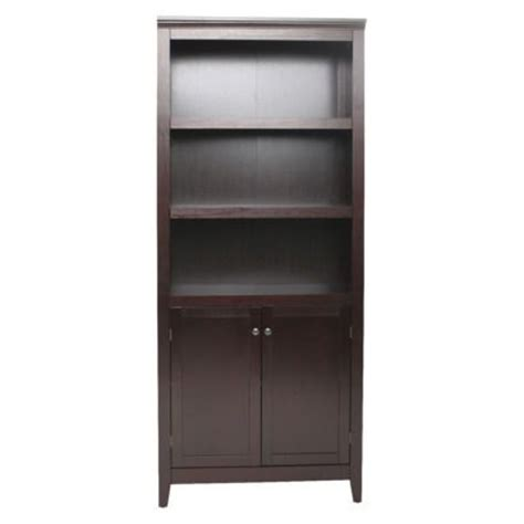 espresso bookcase with doors 5 shelf bookcase with doors espresso 129 99 office