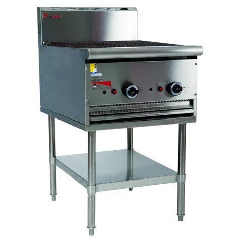 Kitchen Gear Standing by True Heat B60 600mm Char Grill With Leg Stand Commercial