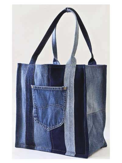 jeans backpack pattern shopping bag from old jeans i love this kind of recycling