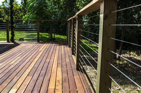 Decking Balustrade Spotted Gum Deck With Handrail Balustrade Spruce