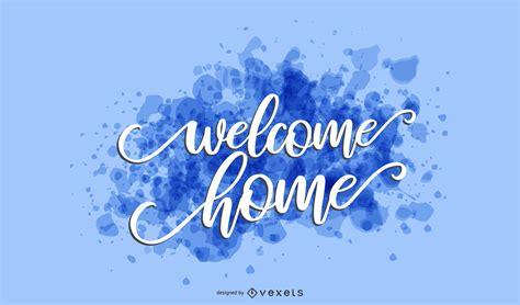home splash lettering vector