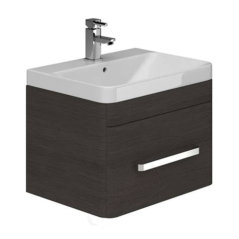 essential vermont 600mm wall hung vanity unit and basin