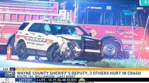 wayne county lights wayne county sheriff s deputy involved in crash with