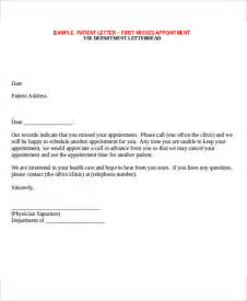 Appointment Letter Format For Event Management Company Missed Appointment Letter Template 6 Free Word Pdf