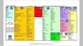lab color chart color chart for lab draws nursing