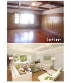painted wall paneling painted wood paneling before after b b