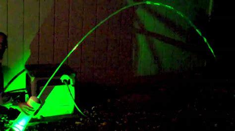 Set Light Green Flow An laminar flow nozzle prototype green led light
