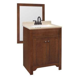 Home Depot 24 Vanity by Hudson 24 5 8 In W Bath Vanity In Cognac With Solid