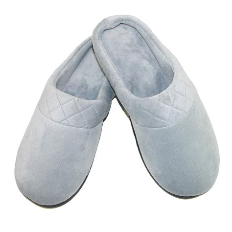s slippers womens microfiber velour clog slipper by dearfoams