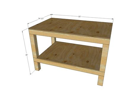 workshop bench plans ana white easy diy garage workshop workbench diy projects