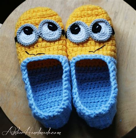 minion slippers adults crochet minion slippers for adults are