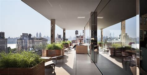 Outdoor Fabric by Steven Harris Architects Llp Upper East Side Penthouse