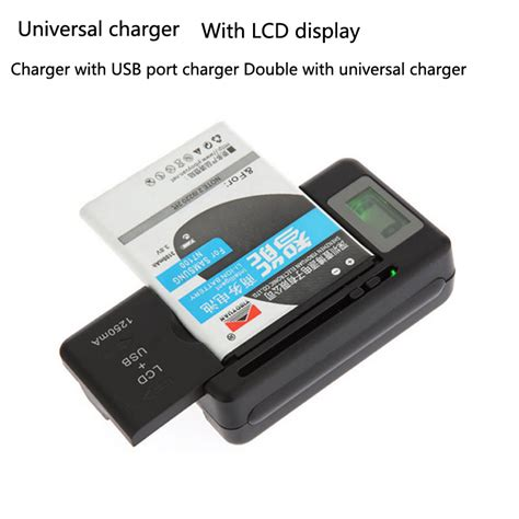 Universal Travel Charger Lcd Usb Gma universal lcd display mobile charge seat adapters cell phone battery wall travel charger with