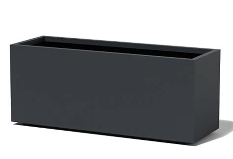 Tall Rectangular Planter Big Planter Troughs Black Rectangular Planter