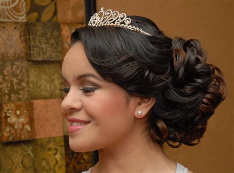 15 Anos Hairstyles by Quinceanera Hairstyle Side View Peinados 15 A 241 Os