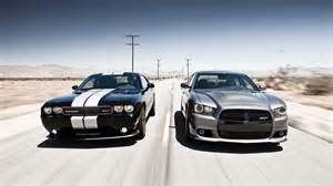 Dodge Challenger Road Two Dodge Car Road Racing Dodge Challenger Wallpaper