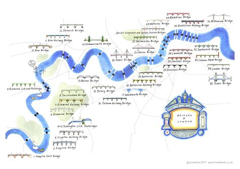 thames river map of london bridges of london mapping london