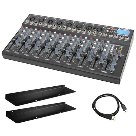 studio mixer desk citronic cm10 live 10 channel live studio mixing desk mixer usb sd effects