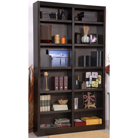 concepts in wood wide 12 shelf bookcase