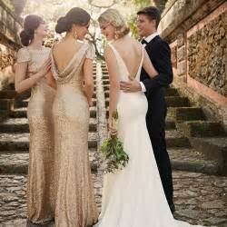 runway to wedding day sequin bridesmaid dresses pretty