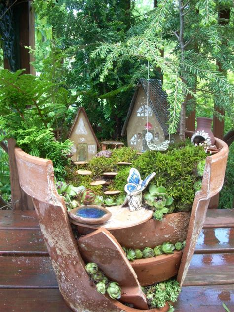 Miniature Gardens Ideas Creative Ideas To Make Mini Garden From Broken Pots
