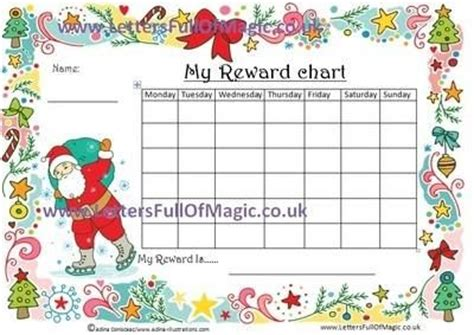 santa chart com santa reward chart pose 2 on skates by www lettersfullofmagic co uk santa and items