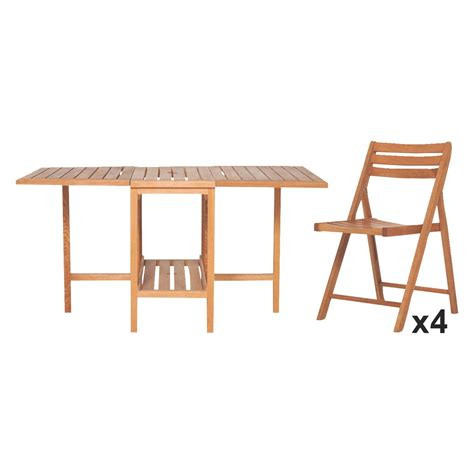 Buy Garden Table And Chairs Zeno Oak Garden Table And 4 Chairs Set Buy Now At Habitat Uk
