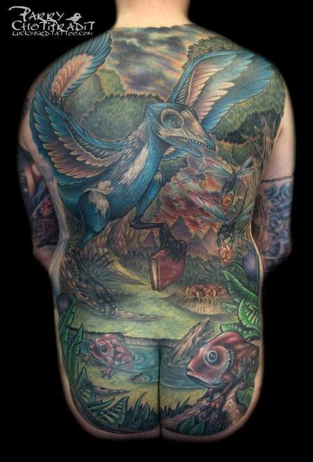 full back piece by watsun atkinsun tattoonow evolution full back piece by parry chotipradit tattoonow