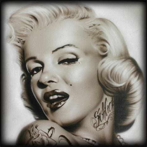 marilyn monroe with tattoos 9 best images about on skull drawings