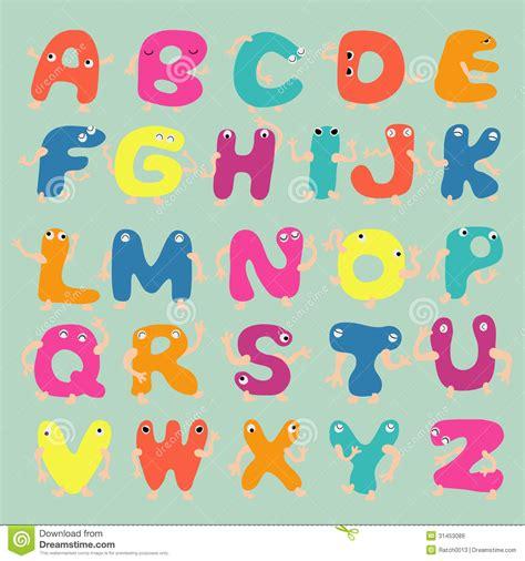 lettere alfabeto divertenti lettere divertenti di alfabeto immagini stock libere da