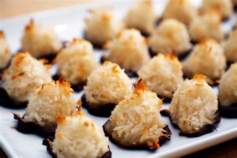 new year coconut cookies cookies chocolate dipped coconut macaroons new