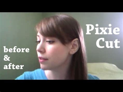 before and after haircut youtube long hair to pixie cut before and after youtube