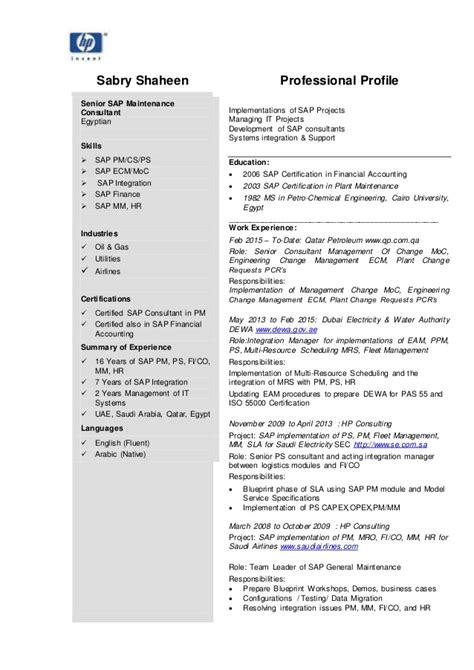 abap developer resume templates examples sample job