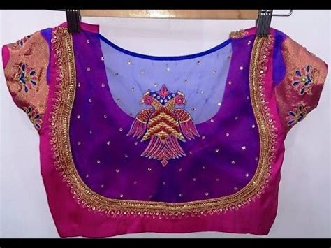 boat neck gale ka design net blouse designs blouse designs 2016 2017 youtube