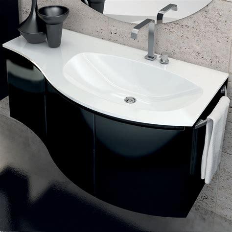 Mobile Bagno Nero Mobile Bagno Moderno Con Lavabo A Tre Ante In Legno