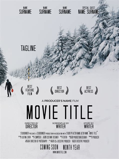 How To Make A Movie Poster Free Movie Poster Credits Template Documentary Poster Template