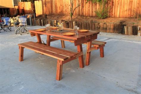 how to build a picnic table with separate benches how to build a picnic table with separate benches