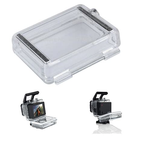 Gopro Bacpac Lcd Display Box With Protective tekcam for gopro accessories lcd display screen bacpac battery waterproof housing backdoor