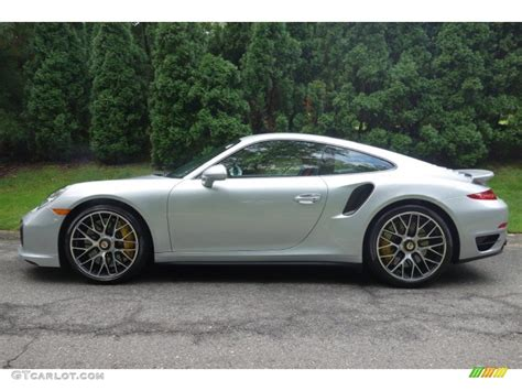 porsche metallic 2015 rhodium silver metallic porsche 911 turbo s coupe