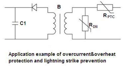 ptc resistor application power ntc thermistor power wiring diagram and circuit schematic