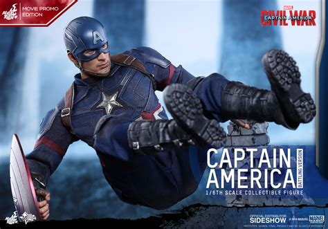 marvel shows first footage from captain america civil war marvel captain america battling version sixth scale figure