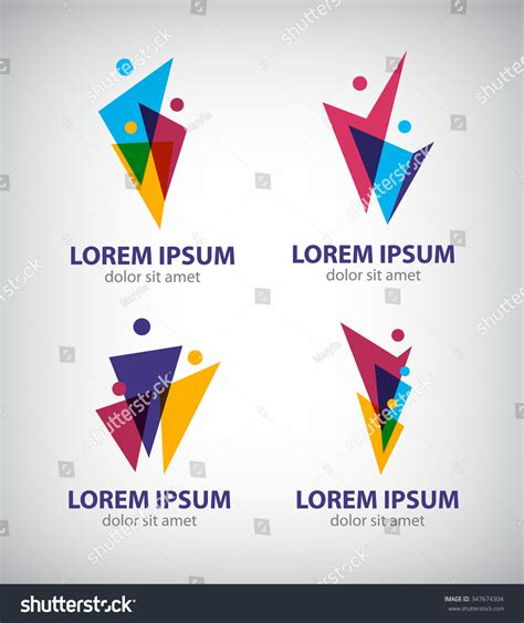 Set Vector Men Logos Human Icons 스톡 벡터 347674304 Shutterstock Tree Logo Setpeople Logo Setfamily