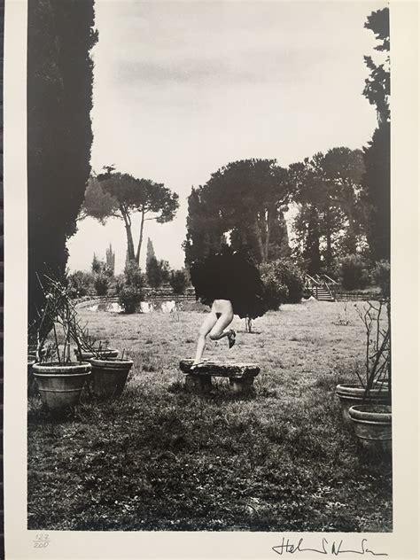 helmut newton helmut newton in a garden near rome print artsper