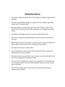 Relationship Contract Template   2 Free Templates in PDF