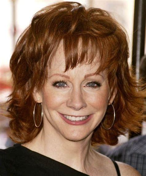 rebas hairstyle how to reba mcentire medium straight formal hairstyle reba