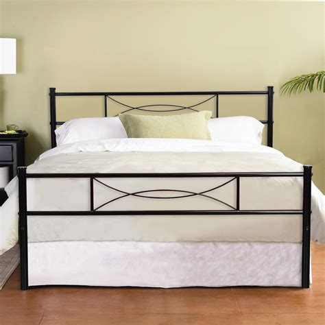 Metal Frame Bed by Platform Metal Bed Frame Foundation Headboard Furniture