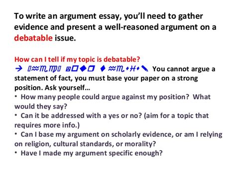 Writing An Essay Ppt by Lecture On Writing Argumentative Essays Ppt