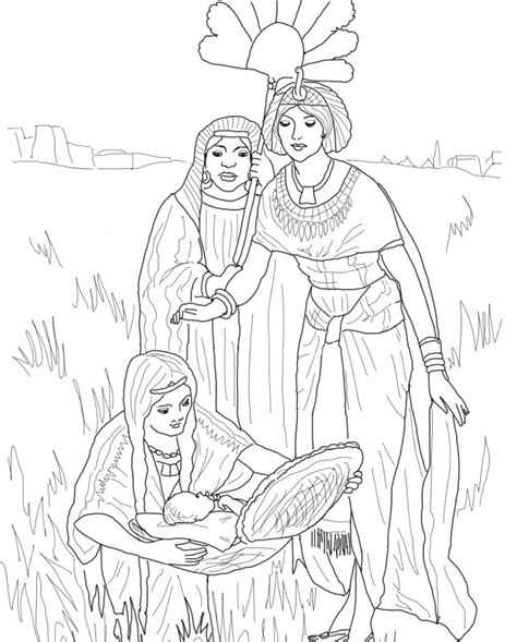 coloring pages of baby moses and miriam miriam free colouring pages